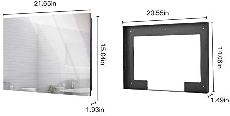 31e7pun5HhL. AC  - Haocrown 21.5-inch Bathroom Waterproof Mirror TV Touch Screen Smart Television Full-HD LED with Android 9.0 System Shower TV with Built-in ATSC Tuner Wi-Fi Bluetooth Waterproof Speakers(2021 Model)