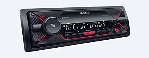 31kEvDGxTQS. AC  - Sony DSX-A410BT Single Din Bluetooth Front USB AUX Car Stereo Digital Media Receiver Bundled with Earbuds (No CD Player)