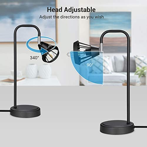 410c jakggL. AC  - DEWENWILS Industrial Table Lamp with USB Port, 3 Way Dimmable Desk Lamp, Modern Touch Control Bedside Nightsand Lamp for Bedroom, Office, Living Room, 3000K E12 Bulb Included