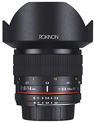 4148Pwe1HqL. AC  - Rokinon FE14M-C 14mm F2.8 Ultra Wide Lens for Canon (Black)
