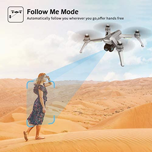 41ChOInHqFL. AC  - 40mins(20+20) Long Flight Time Drone for Adults,JJRC Drone with 2K FHD Camera Live Video, 5G WiFi FPV GPS Return Home Quadcopter with Brushless Motor, Follow Me, Long Control Range (Gray)