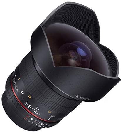 41Ez348ZX5L. AC  - Rokinon FE14M-C 14mm F2.8 Ultra Wide Lens for Canon (Black)