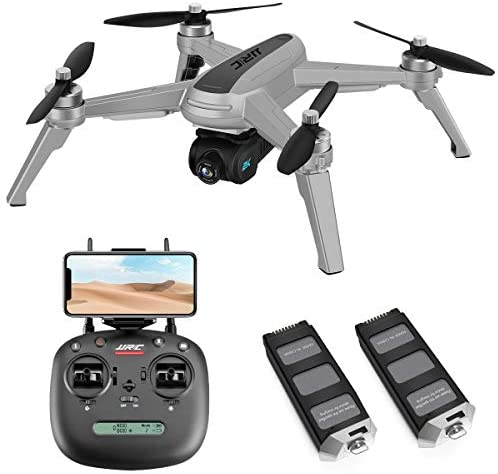 41Fo0U+OYhL. AC  - 40mins(20+20) Long Flight Time Drone for Adults,JJRC Drone with 2K FHD Camera Live Video, 5G WiFi FPV GPS Return Home Quadcopter with Brushless Motor, Follow Me, Long Control Range (Gray)