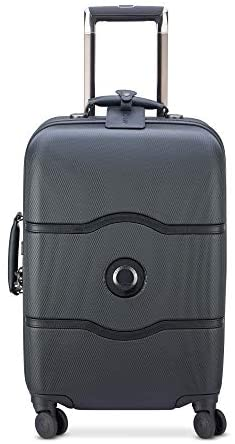 41HFinpSYHL. AC  - DELSEY Paris Chatelet Hardside Luggage with Spinner Wheels, Black, Carry-on 21 Inch, with Brake