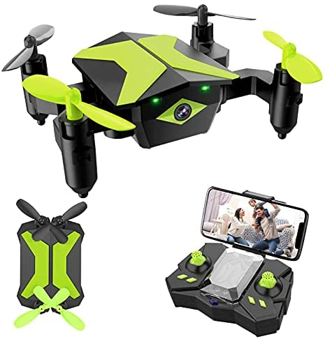 41JczkNdVYS. AC  - Drone with Camera Drones for Kids Beginners, RC Quadcopter with App FPV Video, Voice Control, Altitude Hold, Headless Mode, Trajectory Flight, Foldable Kids Drone Boys Gifts Girls Toys-Green