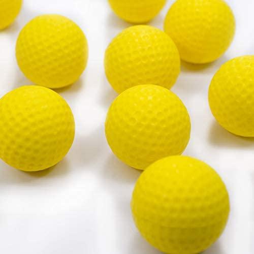 41KB9X7M7wL. AC  - Practice Golf Balls (12 Realistic-Flight Foam Golf Balls) Get Instant Feedback of Your Strike - Perfect for Indoors, Basement & Backyard Golf Practice - Limited Flight