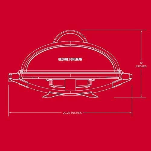 41LFuPULdWL. AC  - George Foreman 12-Serving Indoor/Outdoor Rectangular Electric Grill, Red, GFO201R