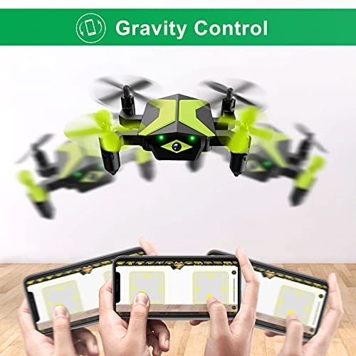 41NIdLDv+CS. AC  - Drone with Camera Drones for Kids Beginners, RC Quadcopter with App FPV Video, Voice Control, Altitude Hold, Headless Mode, Trajectory Flight, Foldable Kids Drone Boys Gifts Girls Toys-Green