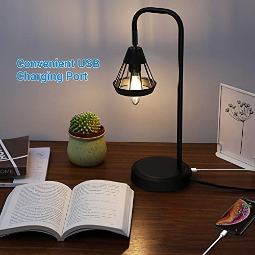 41PMYuR4VbL. AC  - DEWENWILS Industrial Table Lamp with USB Port, 3 Way Dimmable Desk Lamp, Modern Touch Control Bedside Nightsand Lamp for Bedroom, Office, Living Room, 3000K E12 Bulb Included