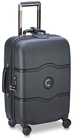 41V3gWtTi3L. AC  - DELSEY Paris Chatelet Hardside Luggage with Spinner Wheels, Black, Carry-on 21 Inch, with Brake