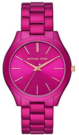 41VIYxpTjoL. AC  - Michael Kors Women's Slim Runway Three-Hand Stainless Steel Quartz Watch