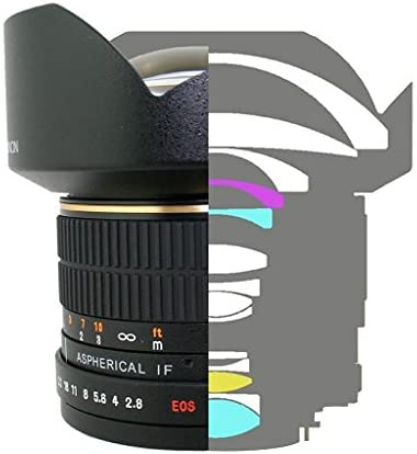 41aFzrTYNXL. AC  - Rokinon FE14M-C 14mm F2.8 Ultra Wide Lens for Canon (Black)