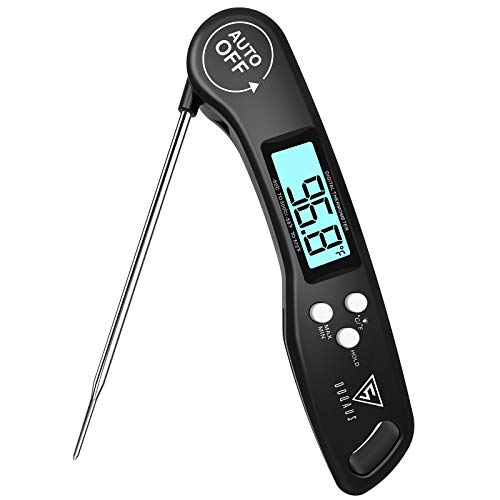 41dVeAzb9oL - DOQAUS Digital Meat Thermometer, Instant Read Food Thermometer for Cooking, Digital Kitchen Thermometer Probe with Backlight & Reversible Display, Cooking Thermometer for Turkey Candy Grill BBQ