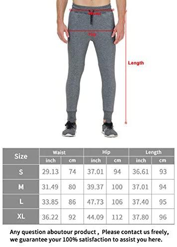 41gOYLkyBbL. AC  - snowhite Mens Casual Jogger Sweatpants Pants - Leisure Fashion Sport Pants with Pockets and Elastic Waist