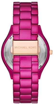 41jjTpMIyyL. AC  - Michael Kors Women's Slim Runway Three-Hand Stainless Steel Quartz Watch