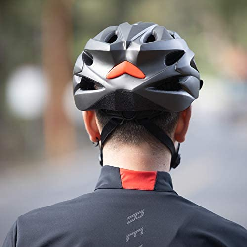 41n5MqDdliL. AC  - RNOX Adult Bike Helmet, Bicycle Cycle Helmet for Adults Men/Women, Adjustable Size Road Cycling Bicycle Helmet with Detachable Visor/Led Rear Light