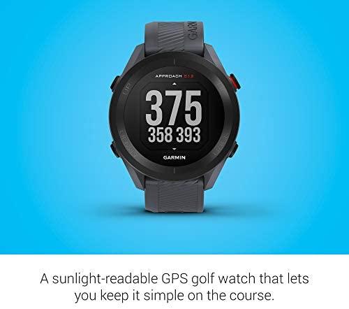 41we5ImW7HL. AC  - Garmin Approach S12, Easy-to-Use GPS Golf Watch, 42k+ Preloaded Courses, Granite Blue, 010-02472-01