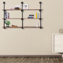 4a997862 c14d 46e0 9f31 7e4d03cb3a35.  CR0,0,220,220 PT0 SX220 V1    - Pynsseu Industrial Iron Pipe Shelving Brackets Unit, Farmhouse Wall Mounted Pipe Shelves for Kitchen Bathroom, DIY Bookshelf Living Room Storage, 3Pack of 4 Tier