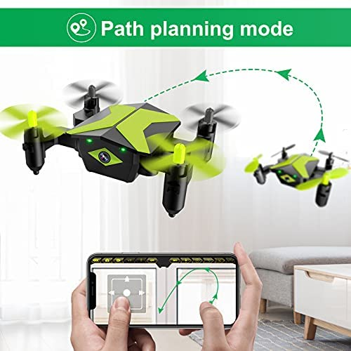 511EYyaLUUS. AC  - Drone with Camera Drones for Kids Beginners, RC Quadcopter with App FPV Video, Voice Control, Altitude Hold, Headless Mode, Trajectory Flight, Foldable Kids Drone Boys Gifts Girls Toys-Green