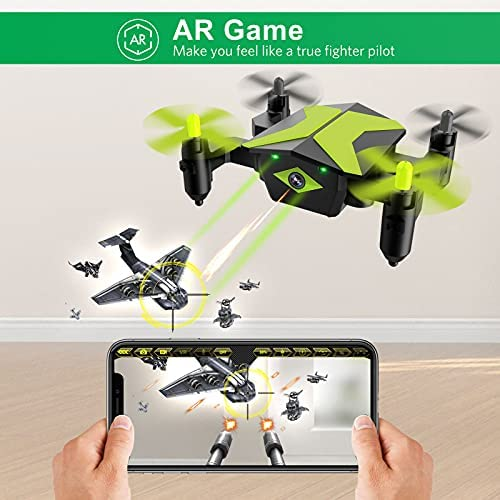517950wIj4S. AC  - Drone with Camera Drones for Kids Beginners, RC Quadcopter with App FPV Video, Voice Control, Altitude Hold, Headless Mode, Trajectory Flight, Foldable Kids Drone Boys Gifts Girls Toys-Green