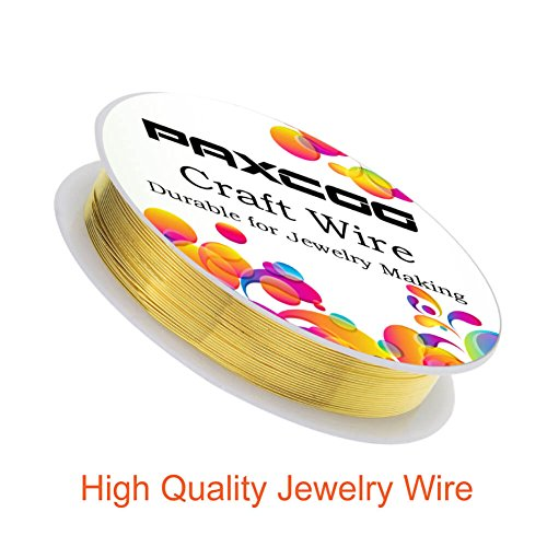 51FlS3uFFEL - PAXCOO 6 Pack Jewelry Beading Wire for Jewelry Making Supplies and Craft (24 Gauge)