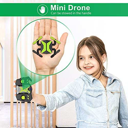 51JEiIoXm8L. AC  - Drone with Camera Drones for Kids Beginners, RC Quadcopter with App FPV Video, Voice Control, Altitude Hold, Headless Mode, Trajectory Flight, Foldable Kids Drone Boys Gifts Girls Toys-Green