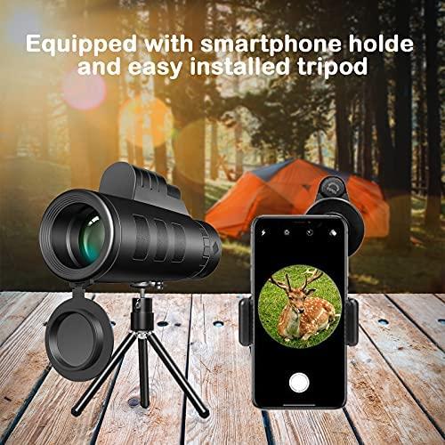 51QtKY4nDzS. AC  - Monocular Telescope, 12X50 High Definition BAK4 Prism Monocular with Smartphone Holder & Tripod for Hunting Hiking Traveling Bird Watching