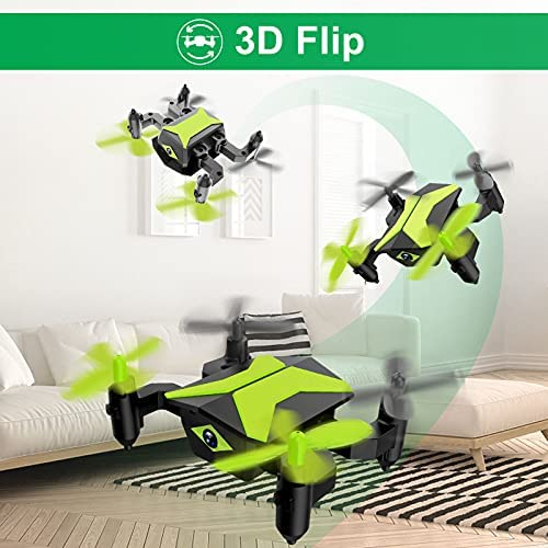 51TDNLEFDuS. AC  - Drone with Camera Drones for Kids Beginners, RC Quadcopter with App FPV Video, Voice Control, Altitude Hold, Headless Mode, Trajectory Flight, Foldable Kids Drone Boys Gifts Girls Toys-Green