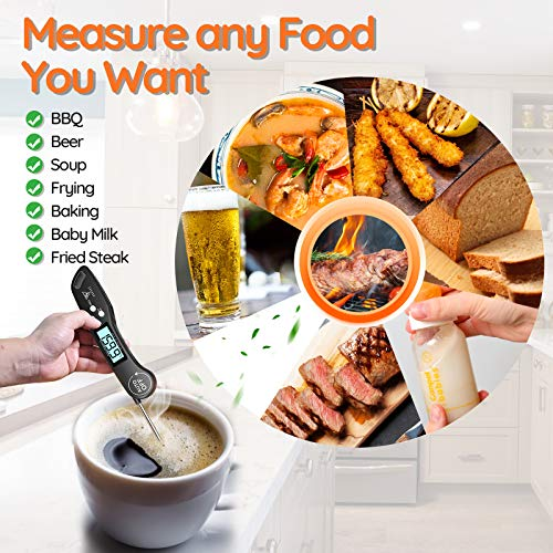 51VCBsAh3HL - DOQAUS Digital Meat Thermometer, Instant Read Food Thermometer for Cooking, Digital Kitchen Thermometer Probe with Backlight & Reversible Display, Cooking Thermometer for Turkey Candy Grill BBQ