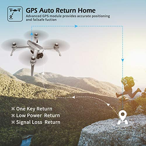 51gJmrQw4DL. AC  - 40mins(20+20) Long Flight Time Drone for Adults,JJRC Drone with 2K FHD Camera Live Video, 5G WiFi FPV GPS Return Home Quadcopter with Brushless Motor, Follow Me, Long Control Range (Gray)