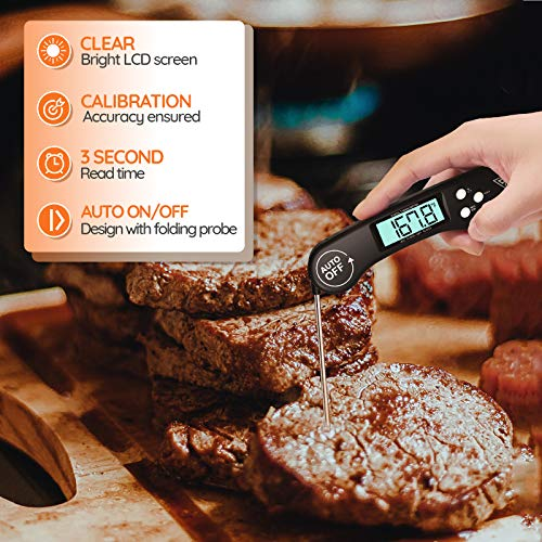 51hPsz8phjL - DOQAUS Digital Meat Thermometer, Instant Read Food Thermometer for Cooking, Digital Kitchen Thermometer Probe with Backlight & Reversible Display, Cooking Thermometer for Turkey Candy Grill BBQ