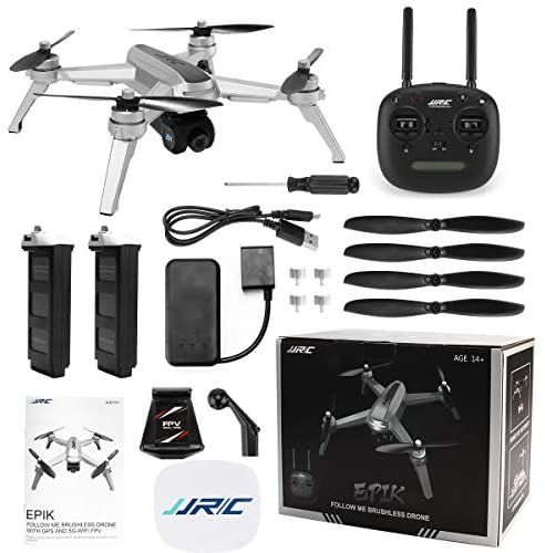 51jzjT3xShL. AC  - 40mins(20+20) Long Flight Time Drone for Adults,JJRC Drone with 2K FHD Camera Live Video, 5G WiFi FPV GPS Return Home Quadcopter with Brushless Motor, Follow Me, Long Control Range (Gray)