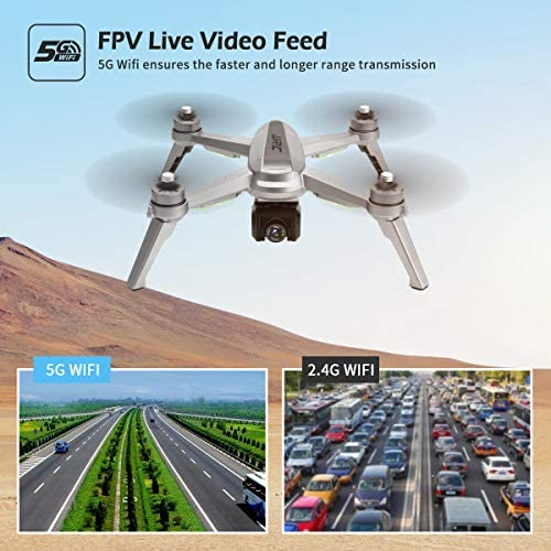 51lrsWQrxAL. AC  - 40mins(20+20) Long Flight Time Drone for Adults,JJRC Drone with 2K FHD Camera Live Video, 5G WiFi FPV GPS Return Home Quadcopter with Brushless Motor, Follow Me, Long Control Range (Gray)
