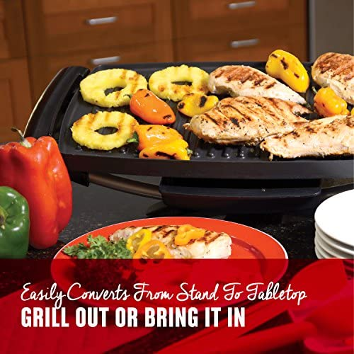 51mH8g2KGEL. AC  - George Foreman 12-Serving Indoor/Outdoor Rectangular Electric Grill, Red, GFO201R