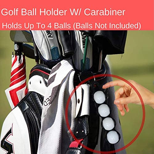 51oJBdJbwcL. AC  - RE GOODS Golf Accessories Kit | Microfiber Towel, Ball Holder, Golf Club Brush w/Groove Cleaner, Divot Repair Tool, Ball Stencil, Tee Holder, Putting Markers | Golfer Gift Set for Men and Women