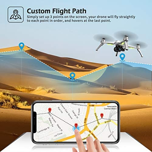 51soFvg5RzL. AC  - 40mins(20+20) Long Flight Time Drone for Adults,JJRC Drone with 2K FHD Camera Live Video, 5G WiFi FPV GPS Return Home Quadcopter with Brushless Motor, Follow Me, Long Control Range (Gray)