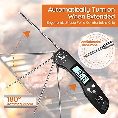 51zrBIdTcwL - DOQAUS Digital Meat Thermometer, Instant Read Food Thermometer for Cooking, Digital Kitchen Thermometer Probe with Backlight & Reversible Display, Cooking Thermometer for Turkey Candy Grill BBQ