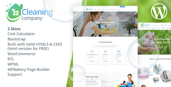 590 cleaning wp.  large preview - Cleaning Services WordPress Theme + RTL