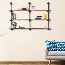 5c9c5792 f8ee 4fc5 aac4 4ae1a0533279.  CR0,0,220,220 PT0 SX220 V1    - Pynsseu Industrial Iron Pipe Shelving Brackets Unit, Farmhouse Wall Mounted Pipe Shelves for Kitchen Bathroom, DIY Bookshelf Living Room Storage, 3Pack of 4 Tier