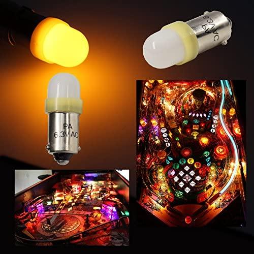 616tA69HNGL. AC  - PA 10PCS #44 #47 ba9s 2 SMD 2835 LED 6.3V DC Bayonet Pinball Gaming Machine Light Bulb Yellow
