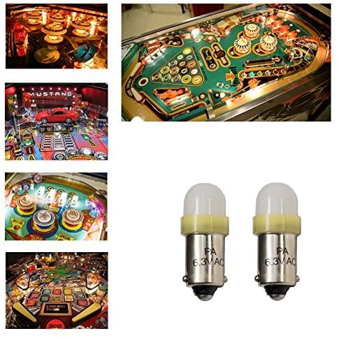 61nP8eH4hgL. AC  - PA 10PCS #44 #47 ba9s 2 SMD 2835 LED 6.3V DC Bayonet Pinball Gaming Machine Light Bulb Yellow
