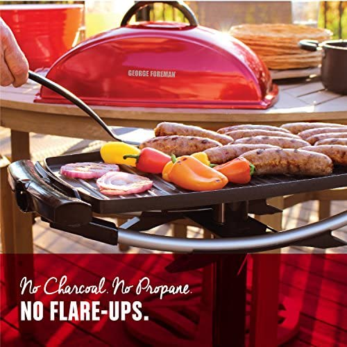61wgZ7oKlgL. AC  - George Foreman 12-Serving Indoor/Outdoor Rectangular Electric Grill, Red, GFO201R