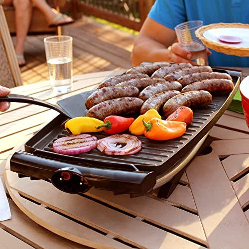 61wlaZMAdIL. AC  - George Foreman 12-Serving Indoor/Outdoor Rectangular Electric Grill, Red, GFO201R