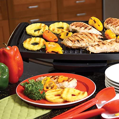 61y1j6d+usL. AC  - George Foreman 12-Serving Indoor/Outdoor Rectangular Electric Grill, Red, GFO201R