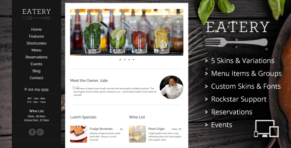 Eatery preview 3.  large preview - Skilled | School Education Courses WordPress Theme
