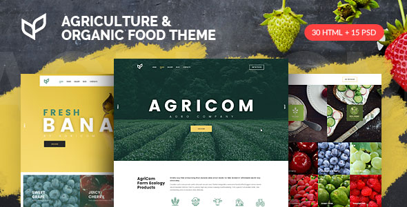 agricom preview - TechLand - SEO Marketing, SAAS Software, App, VPN Landing pages + UI Kit HTML Template