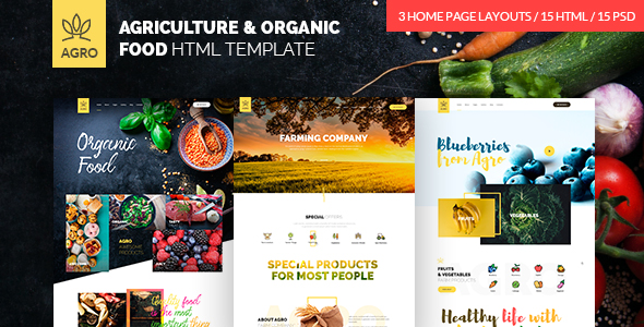 agro main preview - TechLand - SEO Marketing, SAAS Software, App, VPN Landing pages + UI Kit HTML Template