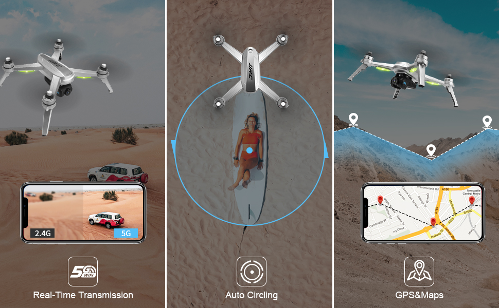 b9db779a 7128 488c a18c ece410cad63e.  CR0,0,970,600 PT0 SX970 V1    - 40mins(20+20) Long Flight Time Drone for Adults,JJRC Drone with 2K FHD Camera Live Video, 5G WiFi FPV GPS Return Home Quadcopter with Brushless Motor, Follow Me, Long Control Range (Gray)