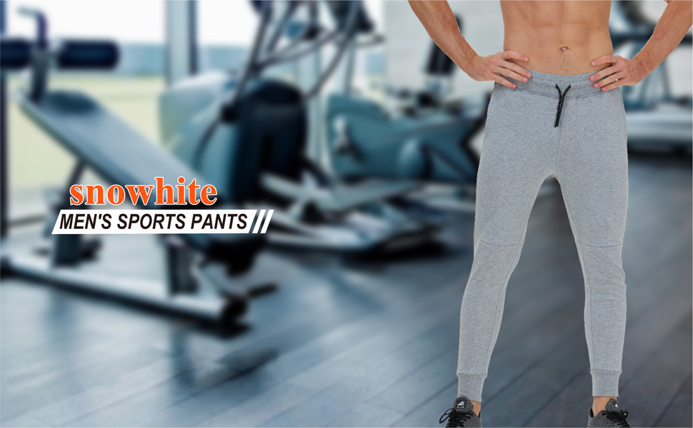 c910f67e 9ddc 4804 8a34 2e6a1880b20d.  CR0,0,970,600 PT0 SX970 V1    - snowhite Mens Casual Jogger Sweatpants Pants - Leisure Fashion Sport Pants with Pockets and Elastic Waist