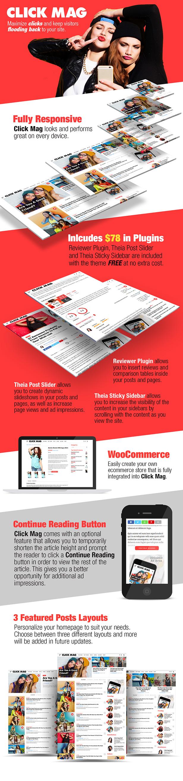 click mag feat - Click Mag - Viral WordPress News Magazine/Blog Theme